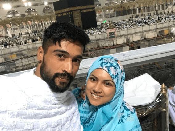 محمد عامر کا اہلیہ کے ساتھ عمرہ، تصاویر وائرل