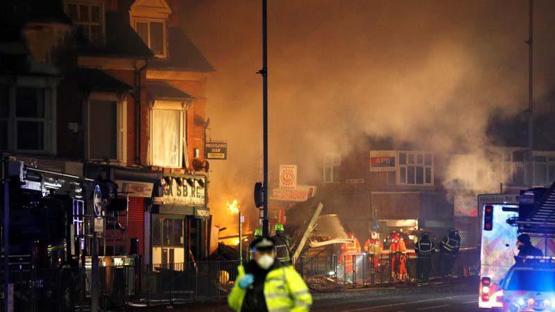 برطانوی شہر لیسیسٹر میں دھماکا، 6 افراد زخمی