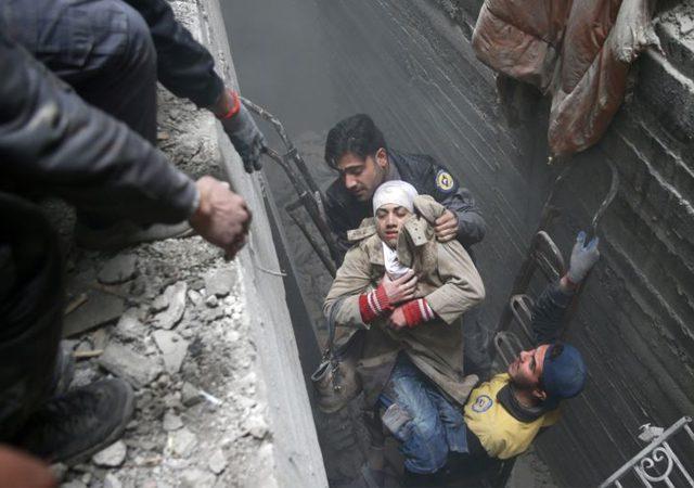 شام میں بمباری، 120 بچوں سمیت 500 سے زائد شہید