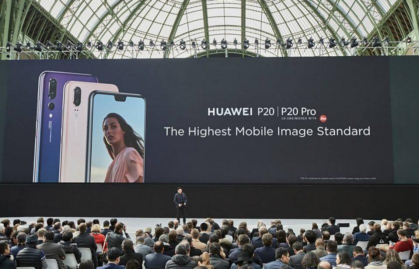 ۔ 40میگا پگسل کیمرے کے ساتھ اندھیرے میں دیکھنے والا Huawei P20 Pro