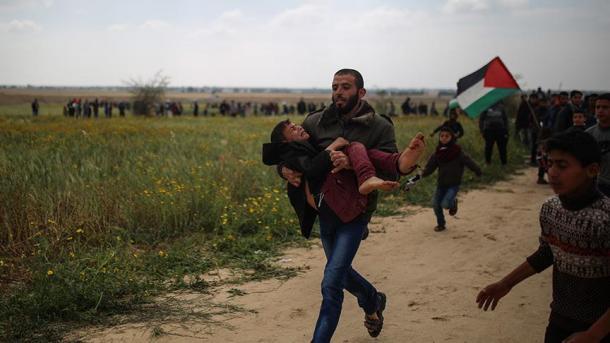 پر امن جلوس پر اسرائیلی فوج کی فائرنگ، 15 فلسطینی شہید1400 سے زائد زخمی