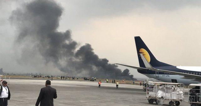 طیارہ ائیرپورٹ پر گر کر تباہ، ہلاکتوں کا خدشہ
