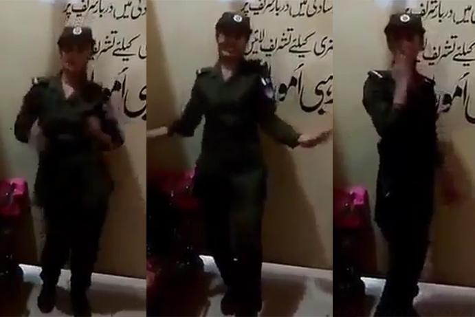 دربار بابا فرید الدین گنج شکر، لیڈی پولیس اہلکار کے فرائض سرانجام دنیے کی بجائےٹھمکے
