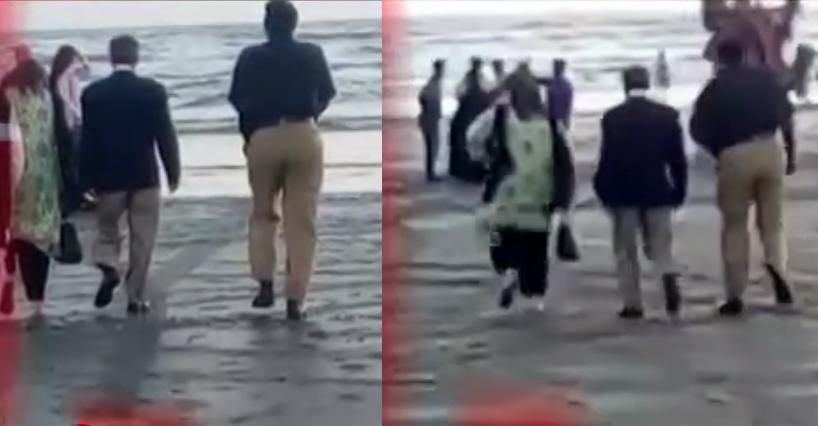 کراچی: چیف جسٹس ثاقب نثار بنا سیکیورٹی اہلیہ کے ہمراہ ساحل سمندر پہنچ گئے