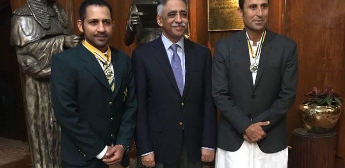 سرفراز احمد ستارہ امتیاز حاصل کرنے والے سب سے کم عمر پاکستانی بن گئے