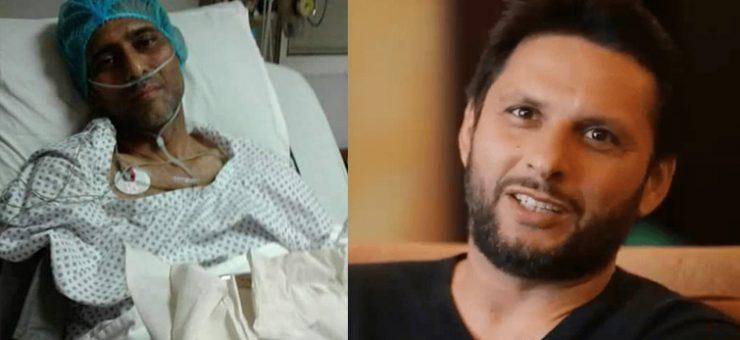 شاہد آفریدی منصور احمد کے علاج کے لئے میدان میں