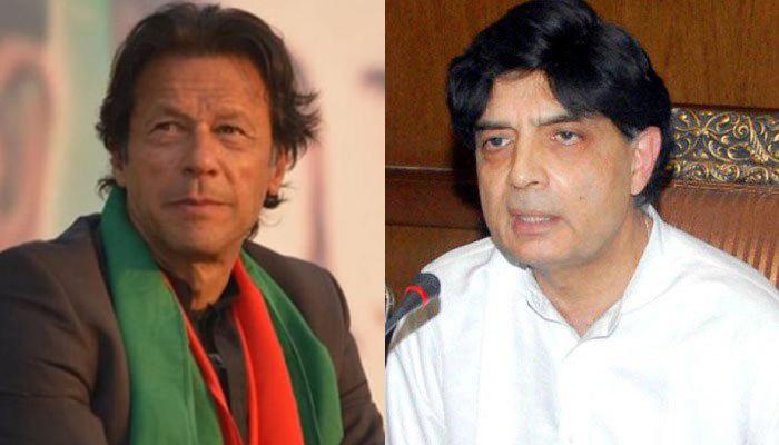 عمران خان اور چودھری نثار کا ٹیلی فونک رابطہ، پی ٹی آئی میں شمولیت کی دعوت