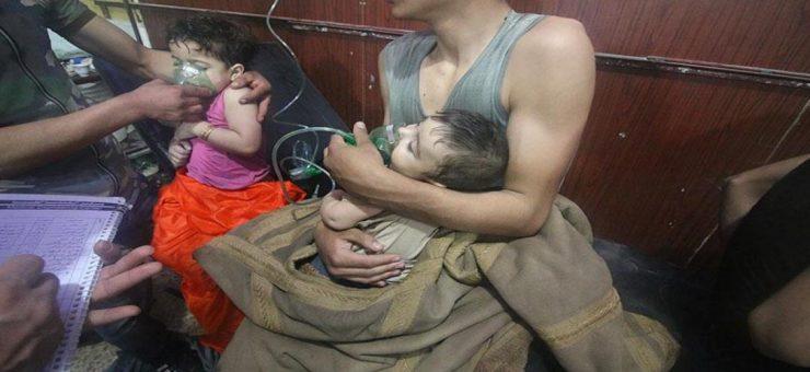 شامی شہر دوما پر کیمائی حملہ، 80 افراد جاں بحق