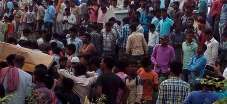 بھارت: ٹرین نے سکول بس کو کچل دیا، 13 بچے ہلاک