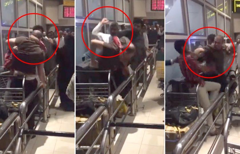 اسلام آباد ائیرپورٹ پر لڑائی، گھونسے اور لاتیں چل گئیں، ویڈیو وائرل