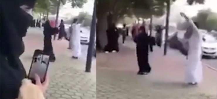 سعودی جوڑے کا سڑکوں پر ڈانس وائرل ہو گیا، ویڈیو دیکھیں