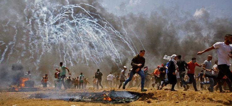 بریکنگ: غزہ میں اسرائیلی فائرنگ سے 41 فلسطینی شہید 1700 سے زائد زخمی