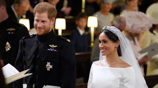 پرنس ہیری سے شادی، میگھن مرکل برطانوی شاہی خاندان کا حصہ بن گئیں