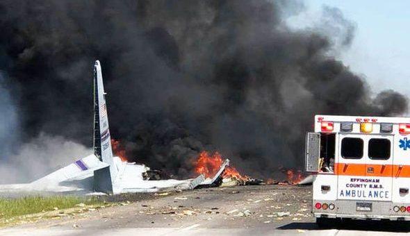 بریکنگ نیوز: امریکی C-130 فوجی جہاز جارجیا میں گر کر تباہ، کئی ہلاک