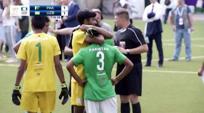 سٹریٹ چائلڈ فٹبال ورلڈ کپ:ازبکستان کیخلاف پاکستان فائنل میں ہمت ہار گیا