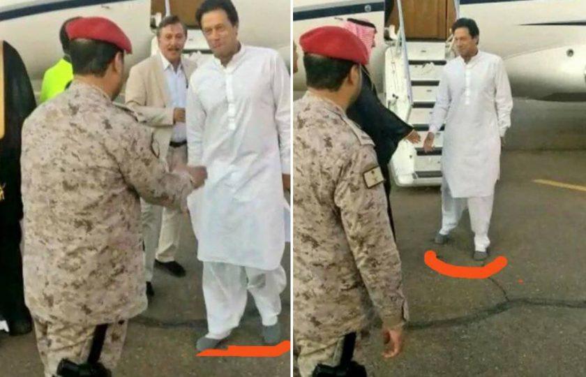 عمران خان کی مدینہ منورہ ننگے پاؤں حاضری