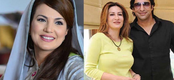 مرحوم اہلیہ پر الزام، وسیم اکرم کی ریحام خان کے خلاف قانونی چارہ جوئی