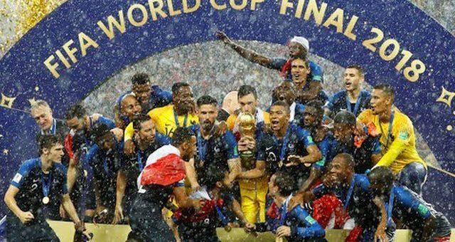 کروشیا کو فائنل میں شکست، فرانس فٹبال کا بادشاہ بن گیا