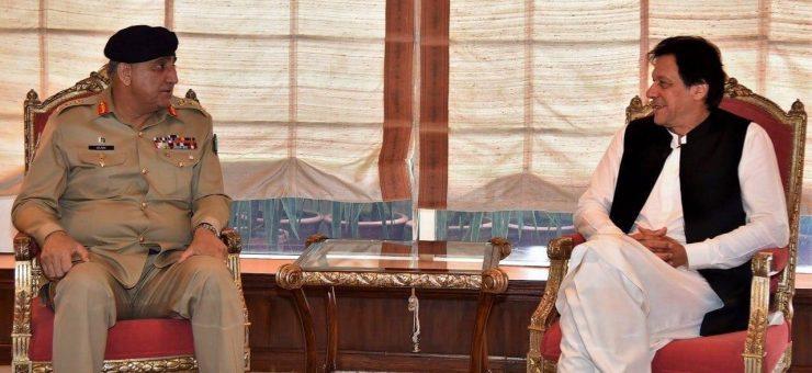 وزیراعظم عمران خان کی جنرل قمر جاوید باجوہ سے ملاقات، اہم امور پر تبادلہ خیال