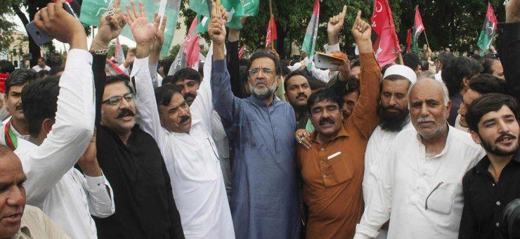 الیکشن کمیشن فوری مستعفی ہو، متحدہ اپوزیشن کا احتجاجی مظاہرہ