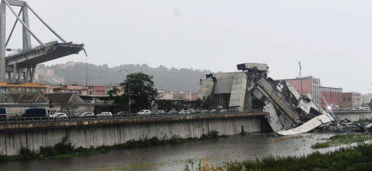 اٹلی میں300 فٹ اونچا پل گر گیا، 25 افراد ہلاک