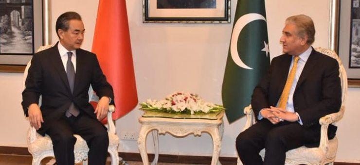 چین اور پاکستان کے وزرائے خارجہ کی ون آن ون ملاقات