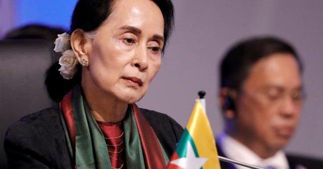 ایمنیسٹی انٹرنیشنل نے میانمار کی رہنما آنگ سان سوچی ایوارڈ واپس لے لیا