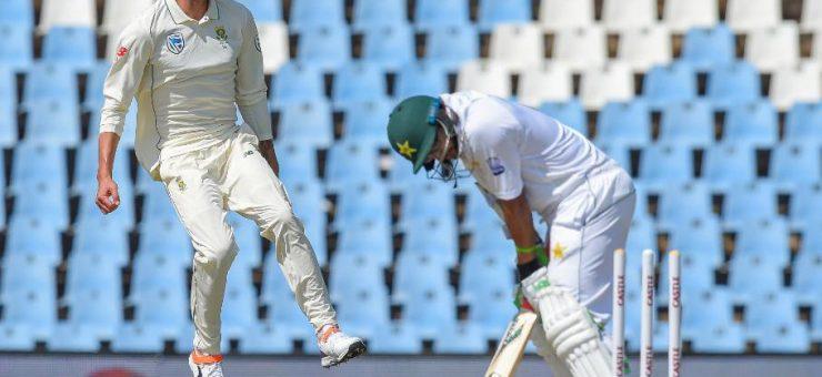 سنچورین ٹیسٹ: پاکستانی ٹیم دوسری اننگز میں بھی 190 پر ڈھیر، جنوبی افریقہ کو جیت کیلئے 149 کا آسان ہدف