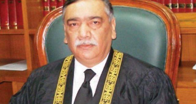 جسٹس آصف سعید کھوسہ نے پاکستان کے 26ویں چیف جسٹس کا حلف اٹھالیا