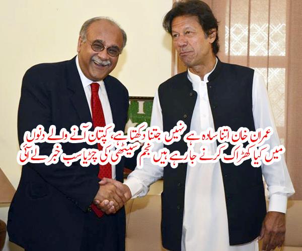 عمران خان اتنا سادہ ہے نہیں جتنا دکھتا ہے، کپتان آنے والے دنوں میں کیا کھڑاک کرنے جا رہے ہیں نجم سیٹھی کی چڑیا سب خبر لے آئی