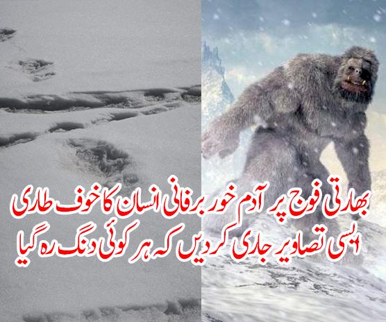 بھارتی فوج پر آدم خور برفانی انسان کا خوف طاری، ایسی تصاویر جاری کردیں کہ ہر کوئی دنگ رہ گیا