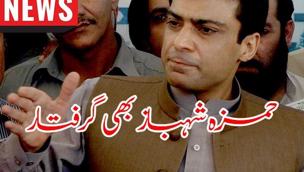 حمزہ شہباز بھی گرفتار