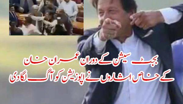 بجٹ سیشن کے دوران عمران خان کے خاص اشاروں نے اپوزیشن کو آگ لگا دی