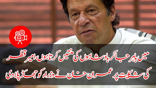 میں باہر جا کر بادشاہوں کی منتیں کرتا ہوں، امیرِقطر کی شکایت پر عمران خان نے وزراء کو جھاڑ پلا دی