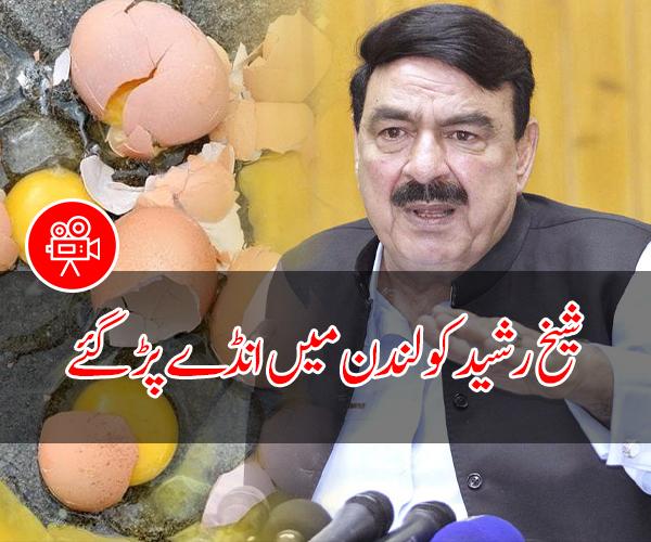 شیخ رشید کو لندن میں انڈے پڑ گئے، ویڈیو وائرل