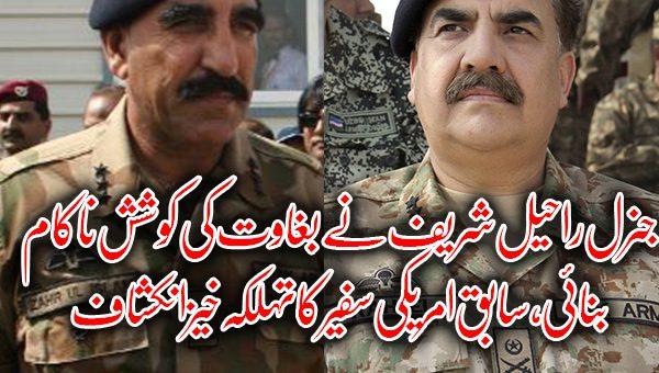 جنرل راحیل شریف نے بغاوت کی کوشش ناکام بنائی، سابق امریکی سفیر کا انکشاف