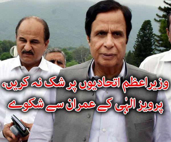 وزیراعظم اتحادیوں پر شک نہ کریں، پرویز الہٰی کے عمران سے شکوے، زرداری کی تعریف