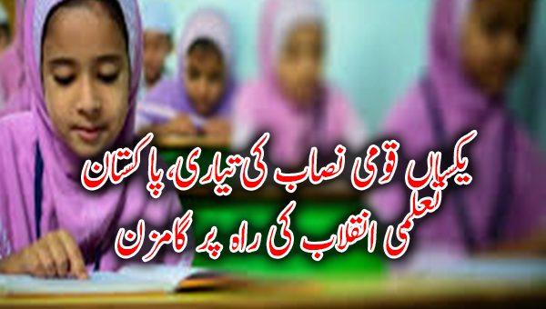 یکساں قومی نصاب کی تیاری، پاکستان تعلمی انقلاب کی راہ پر گامزن